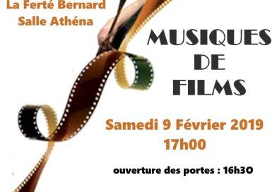 Musiques de films, par l'Orchestre Symphonique du Perche Sarthois, le samedi 9 février 2019 à 17h (salle Athéna, La Ferté-Bernard)