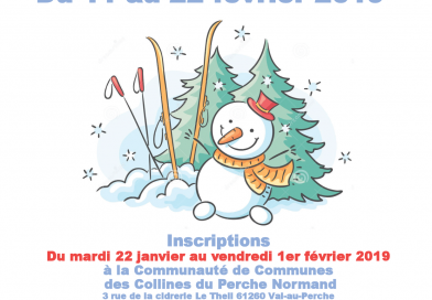Les inscriptions pour l'accueil de loisirs d'hiver en Perche normand sont ouvertes !