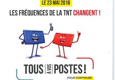 Changements de fréquences TNT le 14/05/2019