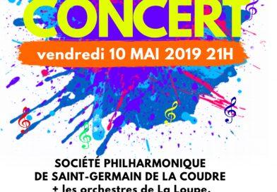 Concert de la Société Philarmonique de Saint-Germain de la Coudre vendredi 10 mai 2019