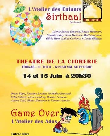Les ateliers théâtre sur scène ce week-end
