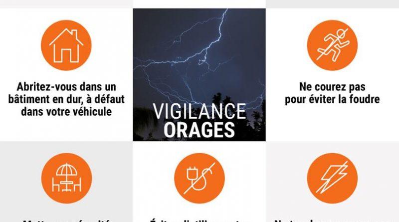 Vigilance météorologique orange pour risque d'orages dans l'Orne le 23 juillet